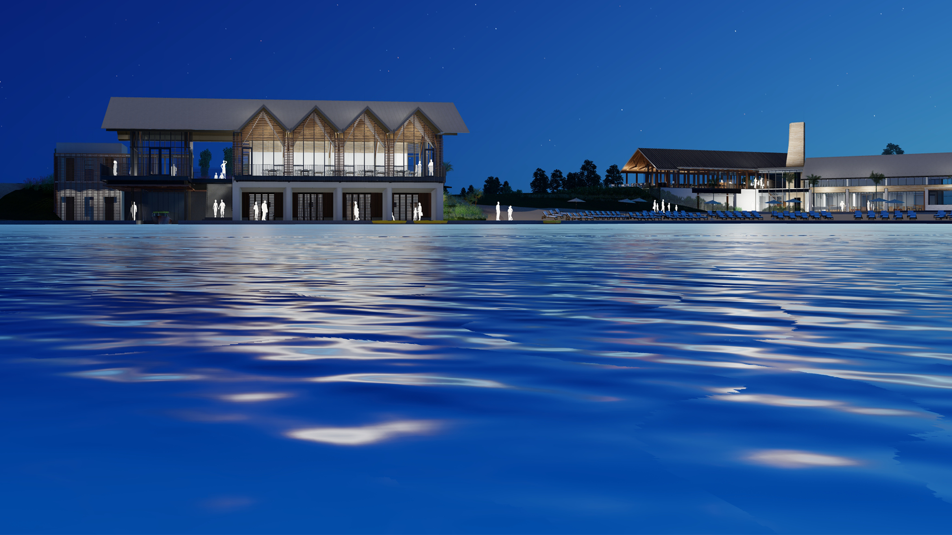 20 acres of waterside amenities